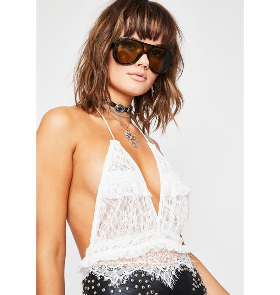 Frosted Time For Trouble Halter Top
