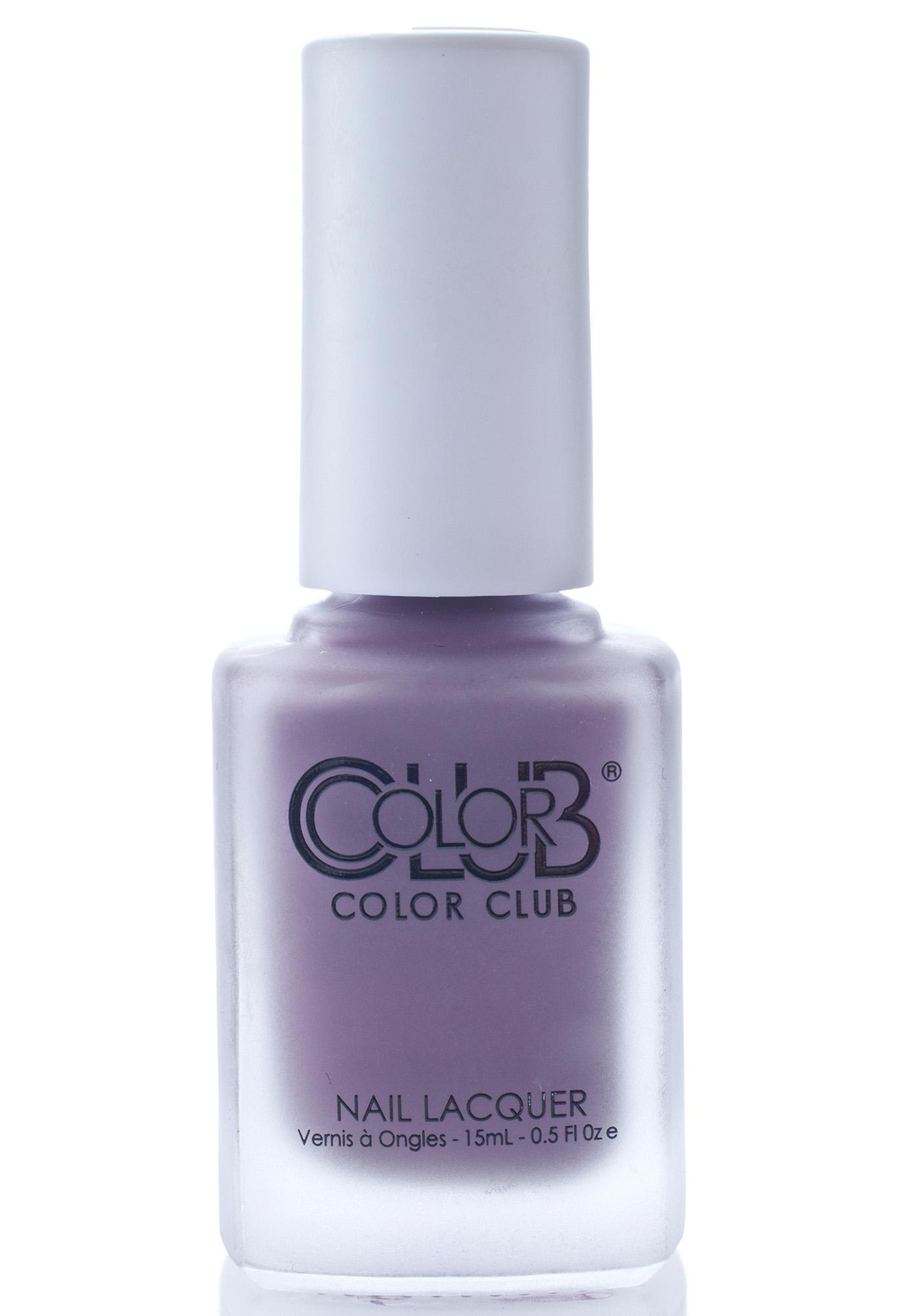 Color Club Plum-p and Juicy Matte Nail Polish