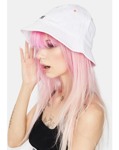 White Moore Bucket Hat