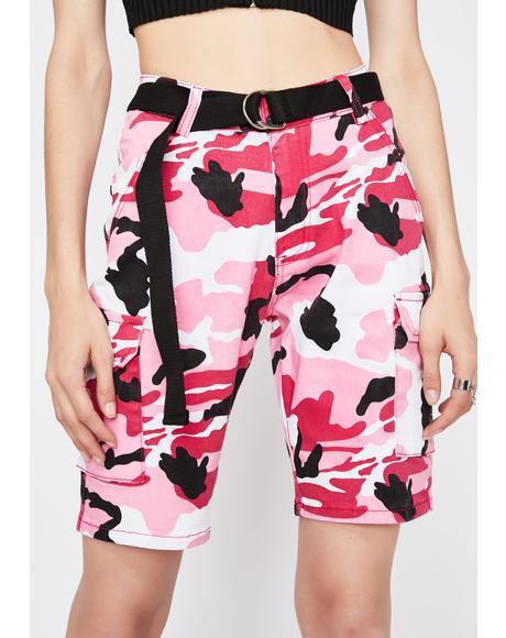 Camo Shock Cargo Shorts