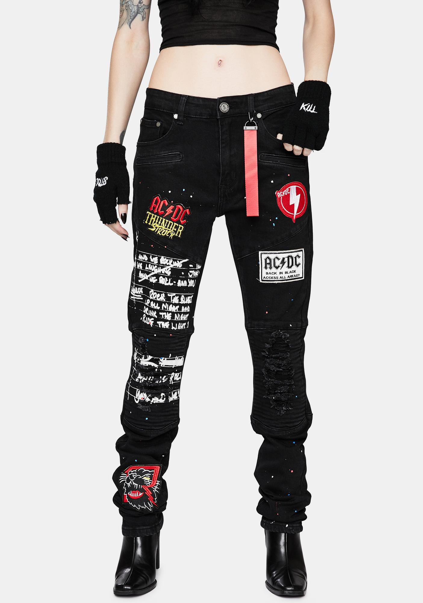 Reason X AC/DC Ready Denim Jeans