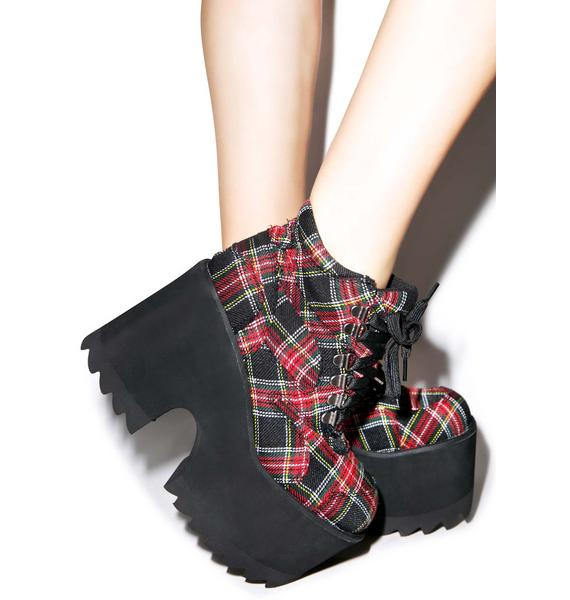 Current Mood Plaid Decisions Code Boots