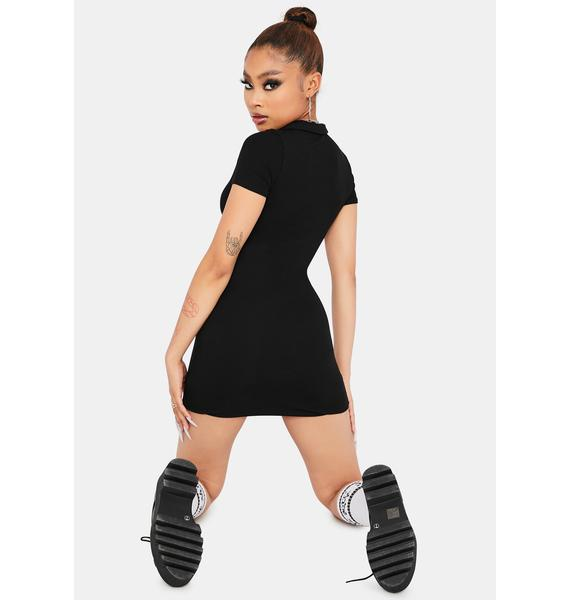 Keep it Cheeky Collared Ribbed Dress