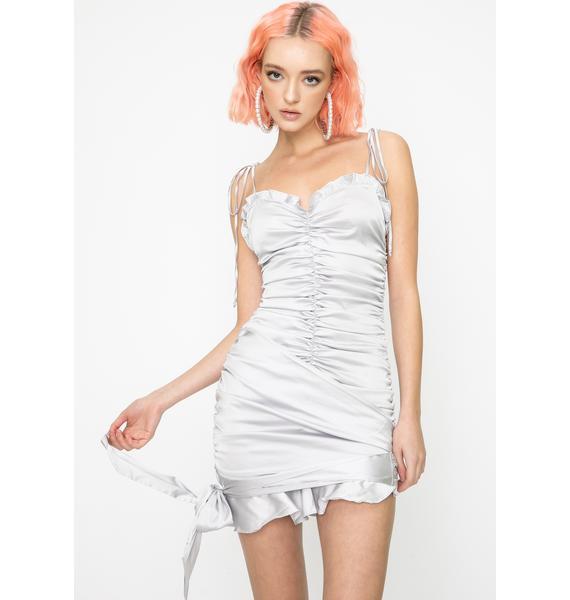 For Love & Lemons Argent Mini Dress