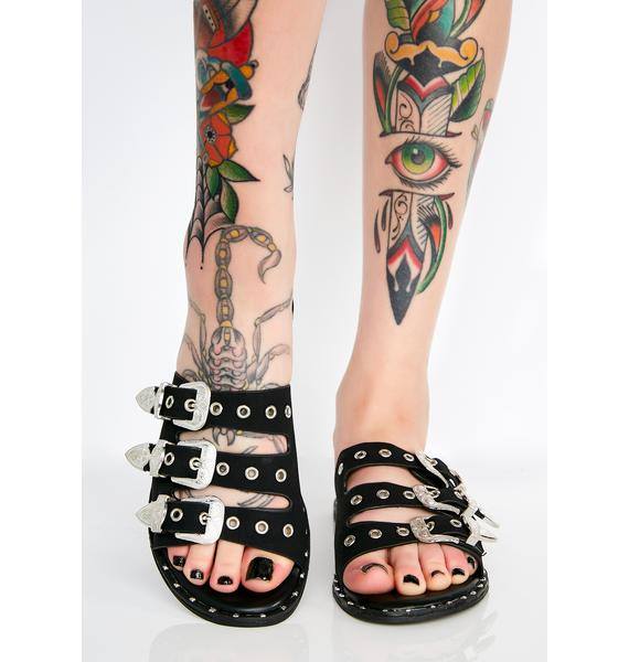 On The Run Buckle Sandals