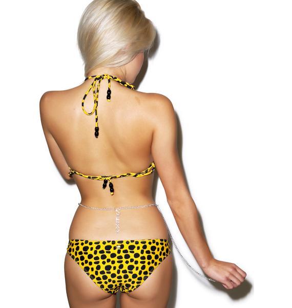 Sexy Low Back Rhinestone Belly Chain
