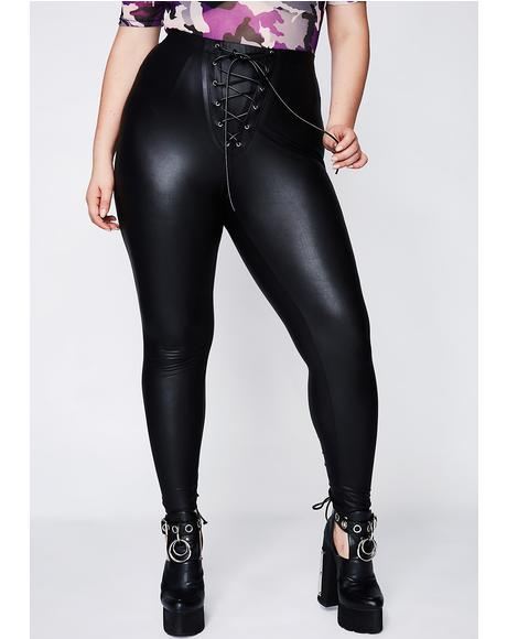 Bring It Back Lace-Up Leggings