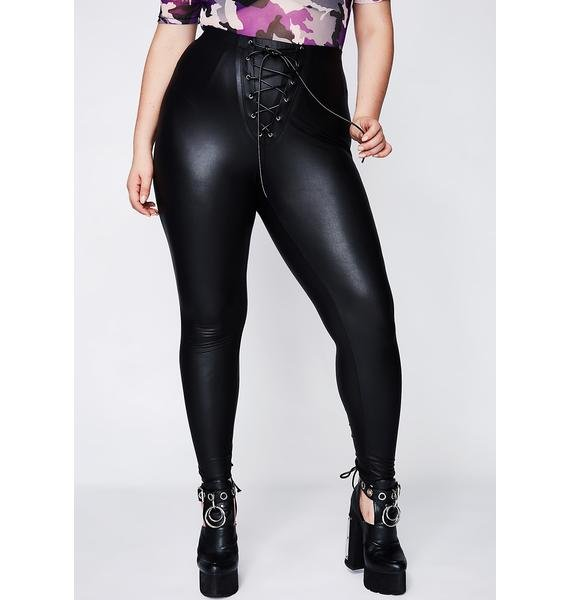 Poster Grl Bring It Back Lace-Up Leggings