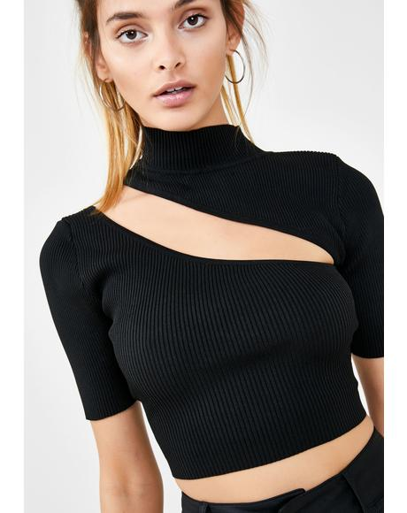 Night Baddie Element Crop Top
