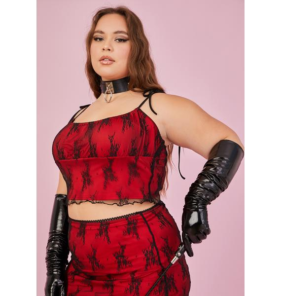 Sugar Thrillz Lover Let's Set The Mood Lace Top