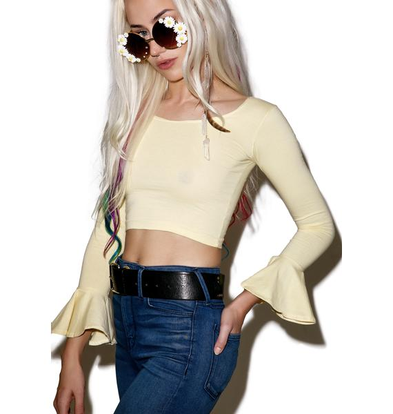 American Deadstock Sup Buttercup Crop Top