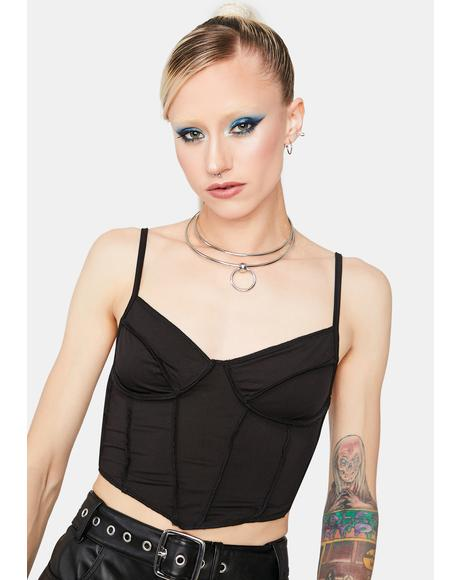 Run To Me Bustier Crop Top