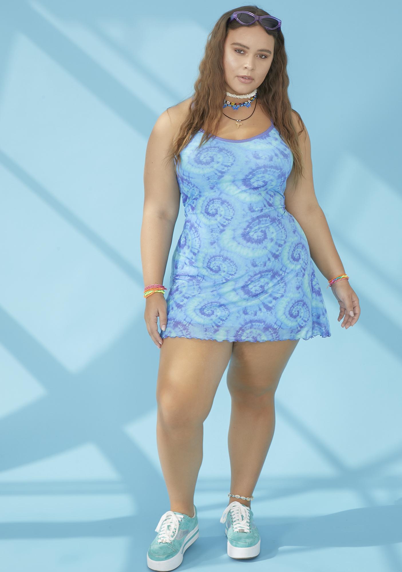 dELiA*s by Dolls Kill Always Chasin' Mavericks Mesh Dress