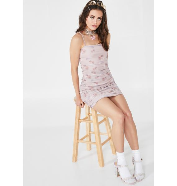 Daisy Street Cherub Mesh Dress