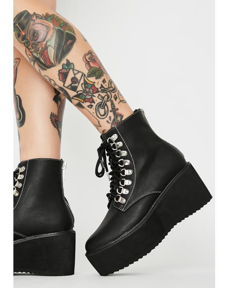 Mortal Think Twice Platform Boots