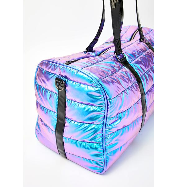 Club Exx Space Bae Escapade Quilted Weekender
