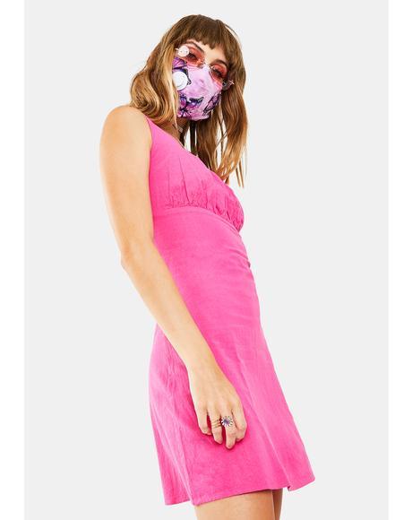 Pink Cerise Mini Dress
