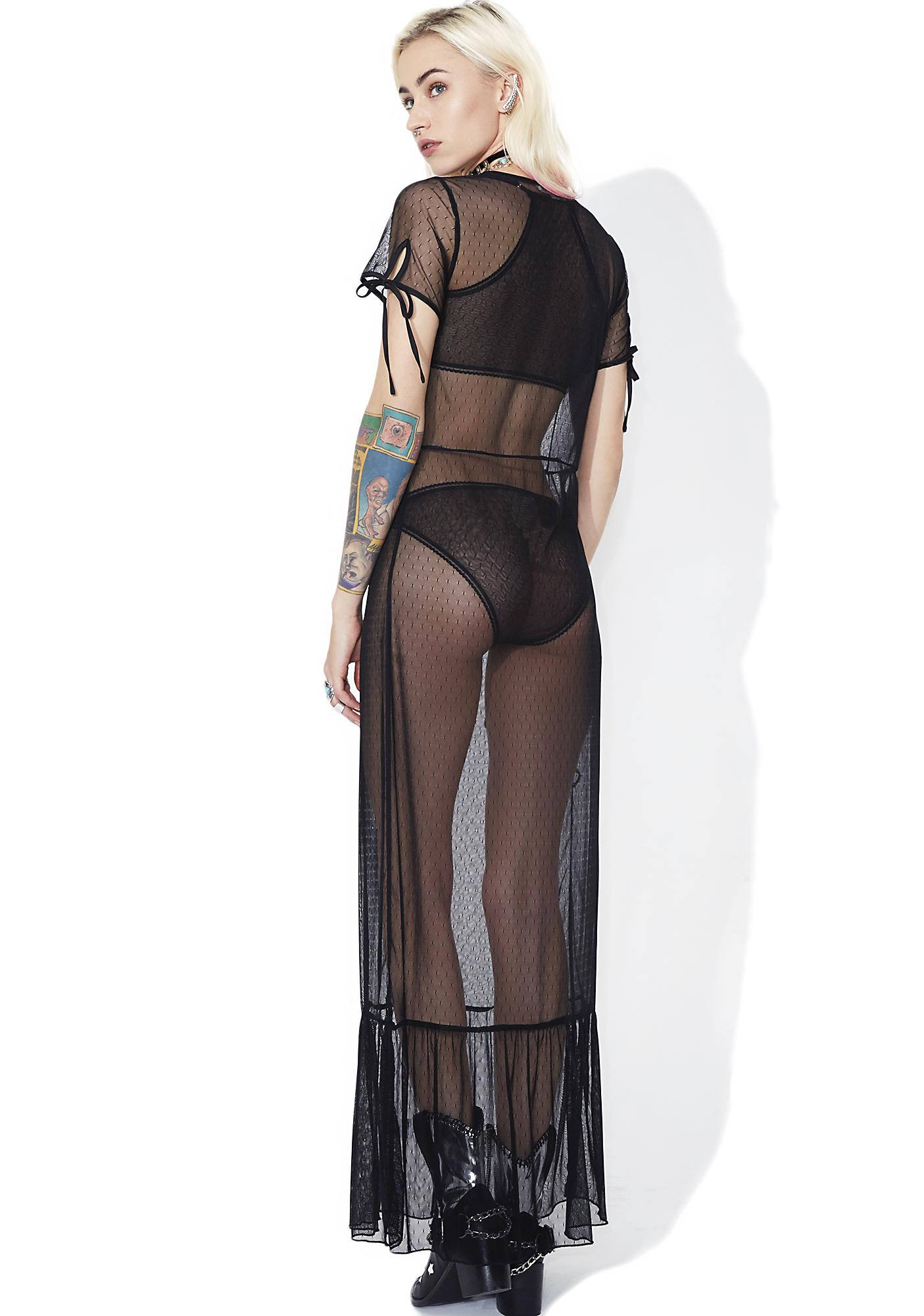 Practical Magic Sheer Maxi Dress