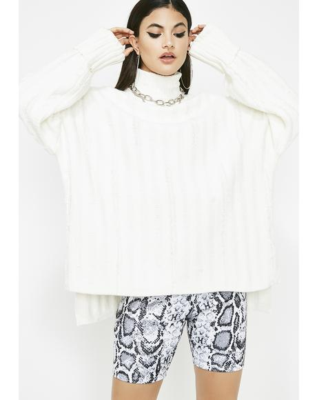 Iced Night Class Turtleneck Sweater