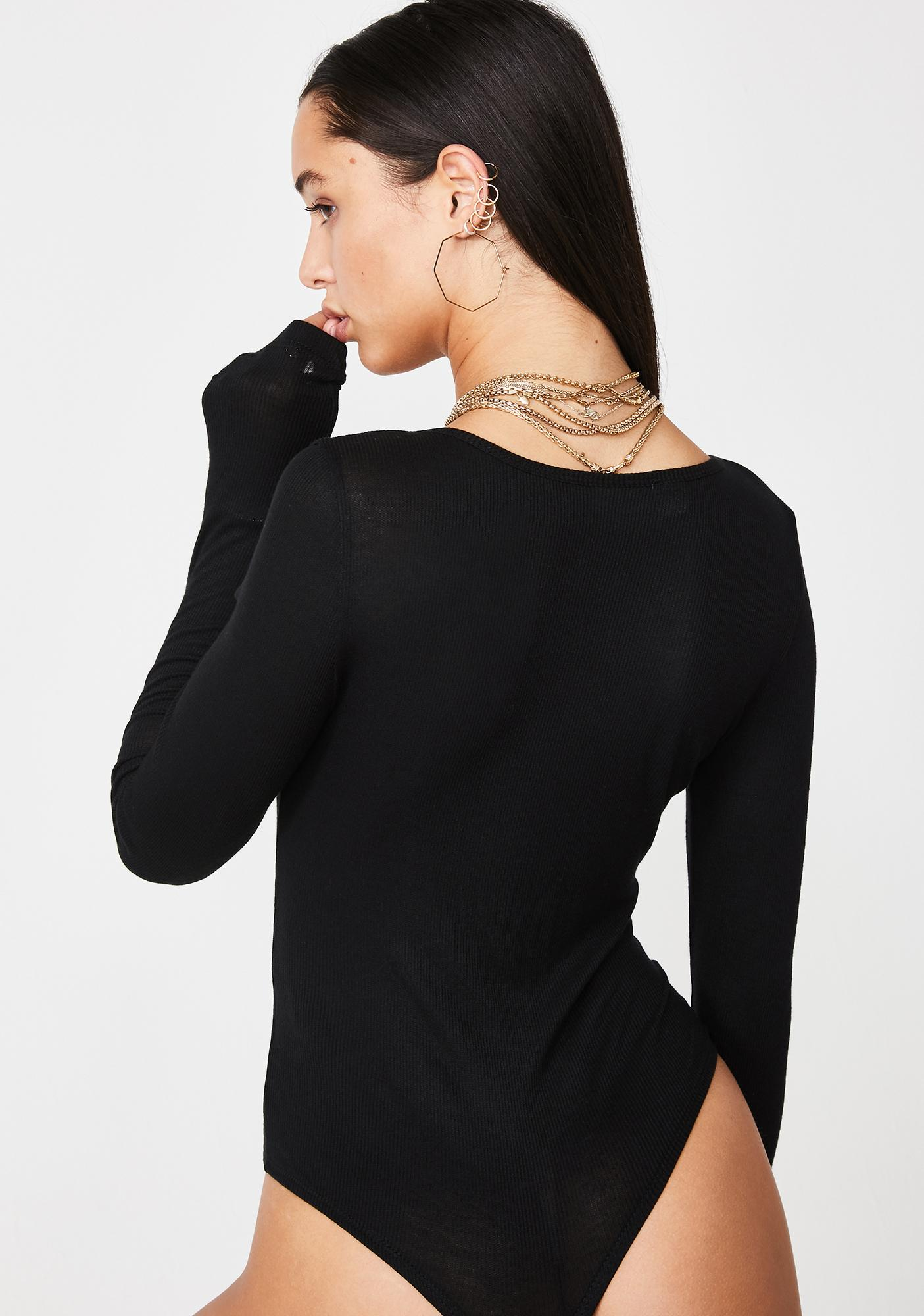 Noisy May Long Sleeve Henley Bodysuit