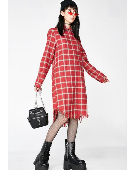 Grunge At Heart Plaid Dress