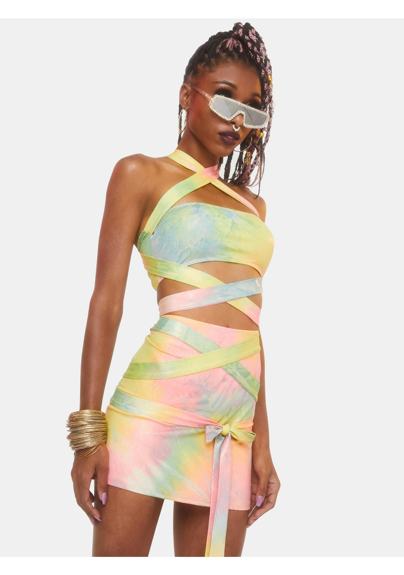Club Exx Wings Of Paradise Wrap Skirt
