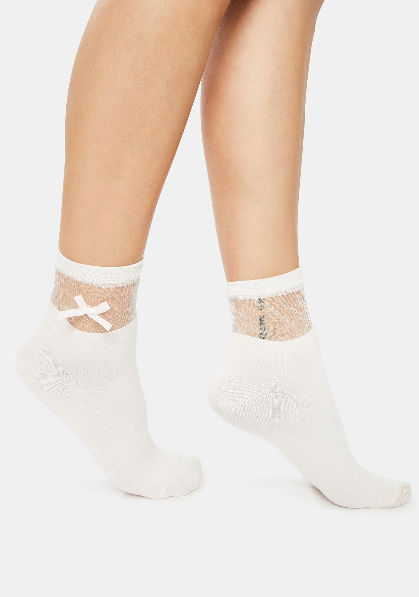 Cutie Confessions Bow Socks