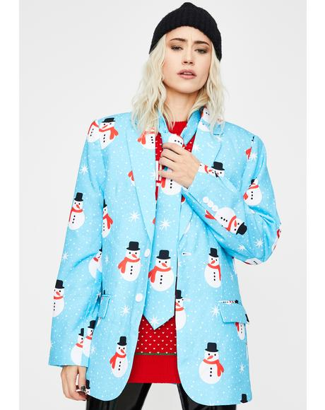 Snowman Is An Island Oversized Blazer