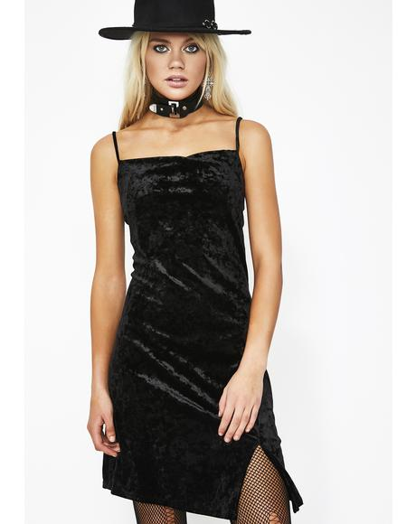 Dark Figure Me Out Velvet Dress