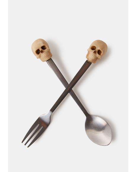 Taste Of Doom Skull Spoon And Fork