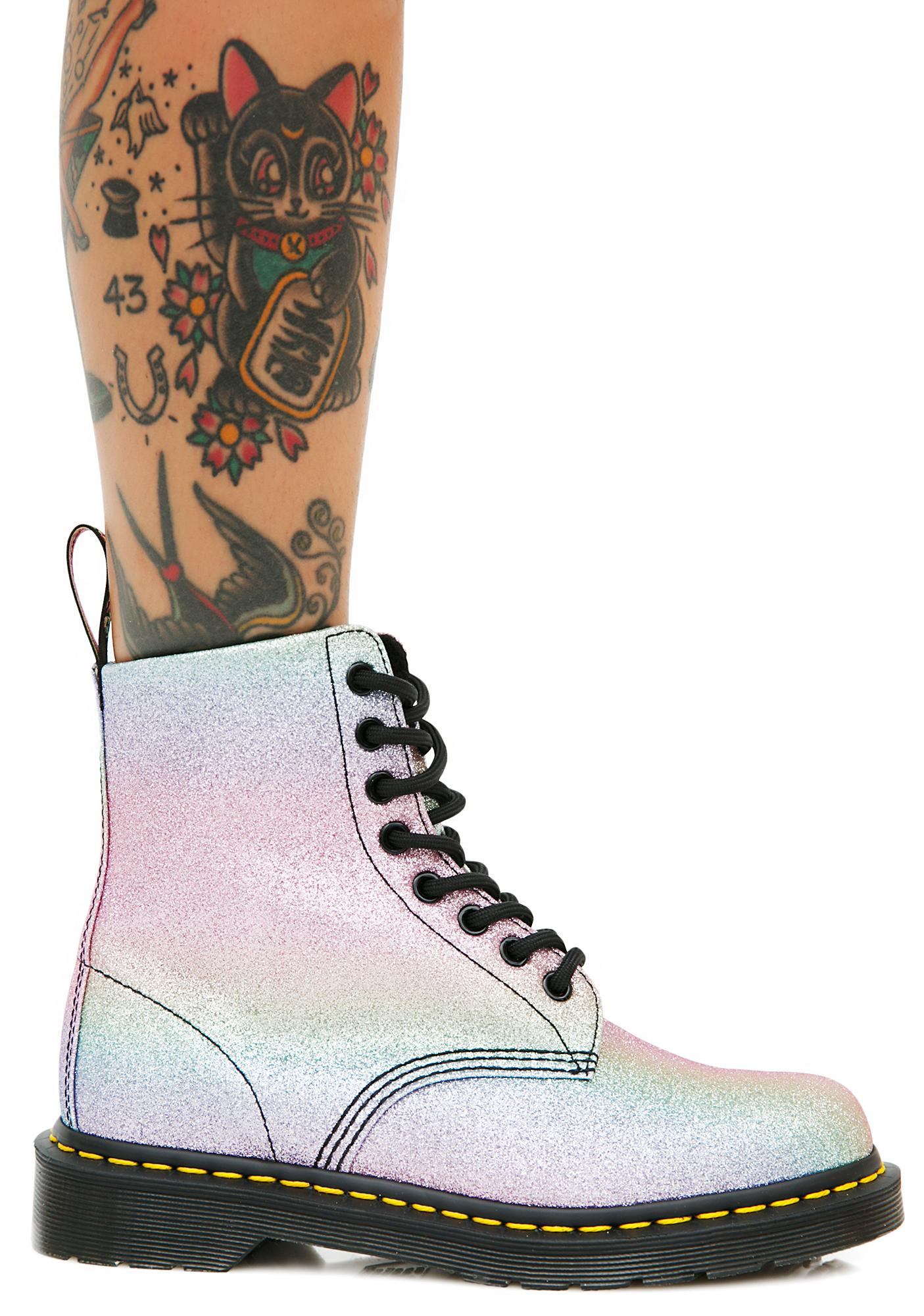 dr martens glitter pascal boots dolls kill. Black Bedroom Furniture Sets. Home Design Ideas