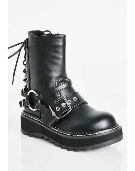 Dark Quadrant Platform Boots