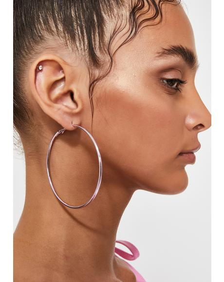 Glam Galore Metallic Hoops
