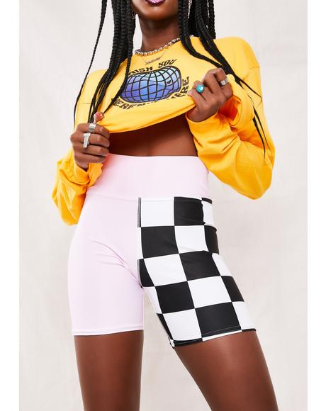 Duo Checkered Shorts