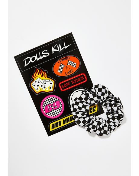 High Maintenance Stickers X Scrunchie Pack