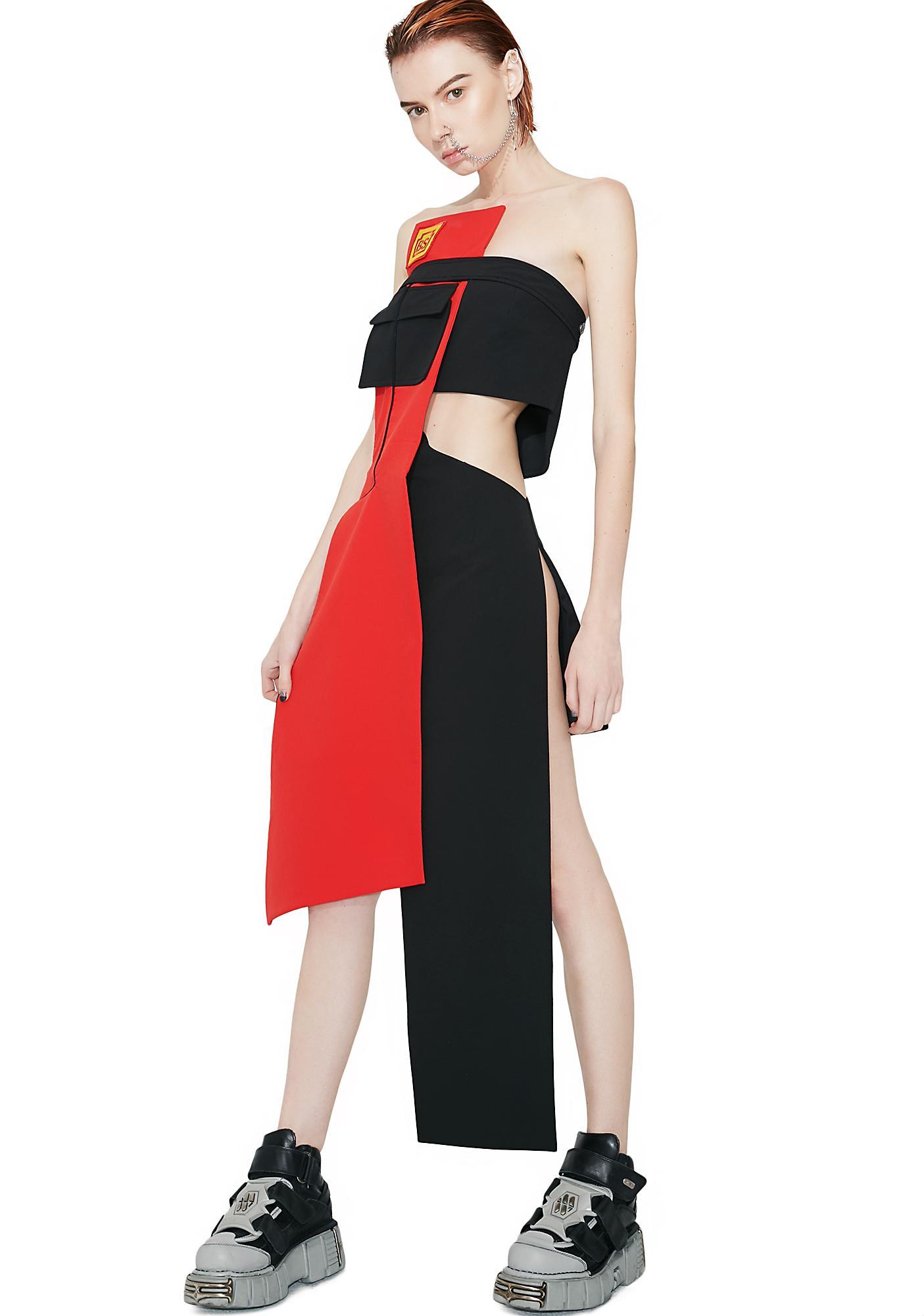 Maria ke Fisherman Bridgestone Deconstructed Dress