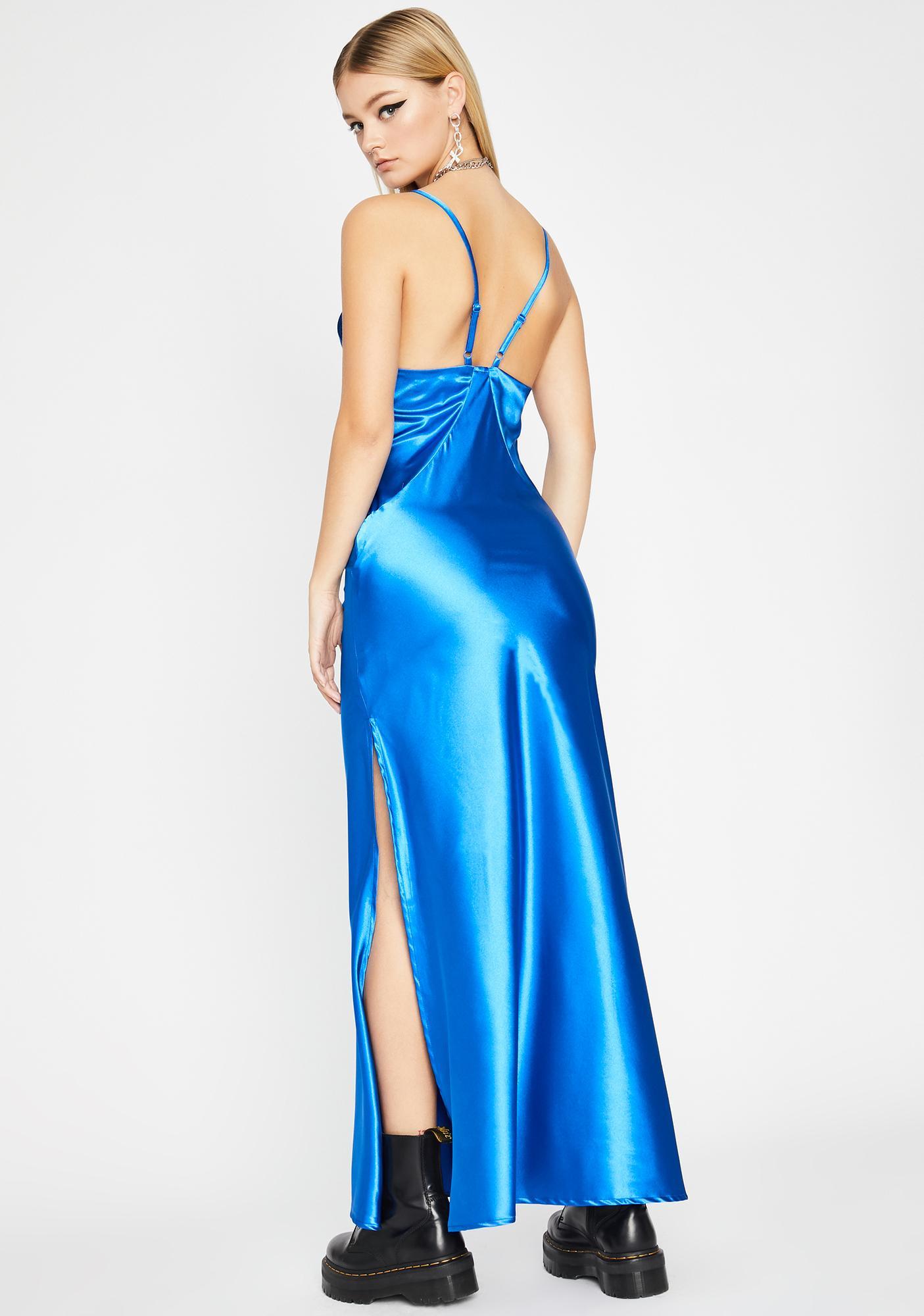 Cobalt Slow Dance Maxi Dress