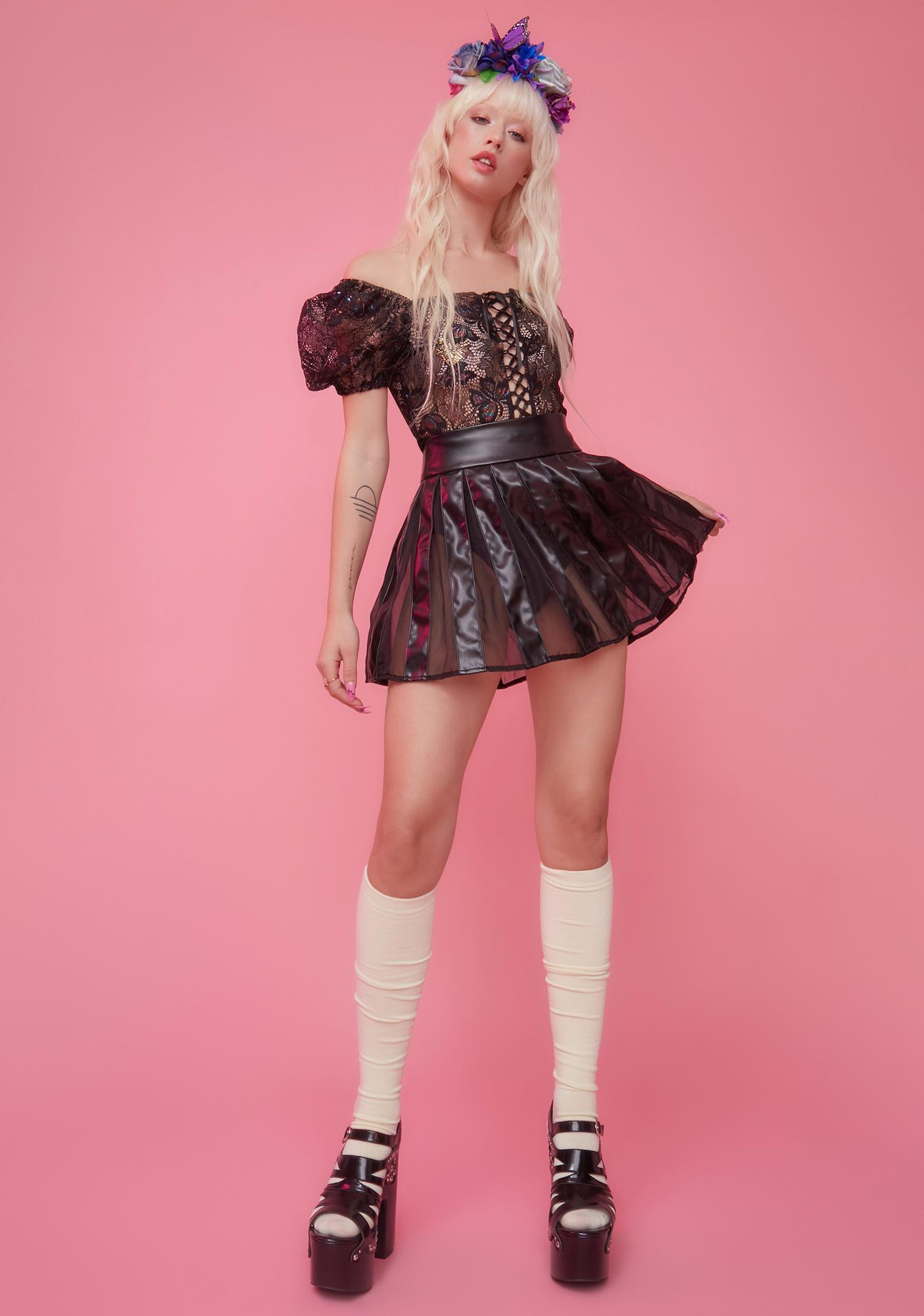 Sugar Thrillz Chasing Moonlight Pleated Mini Skirt