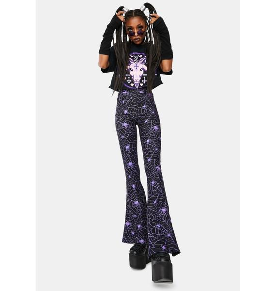 Too Fast Purple Spider Web Hellz Bellz Flares