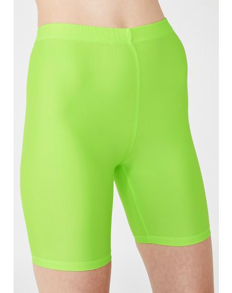 Lime Cycle Shorts