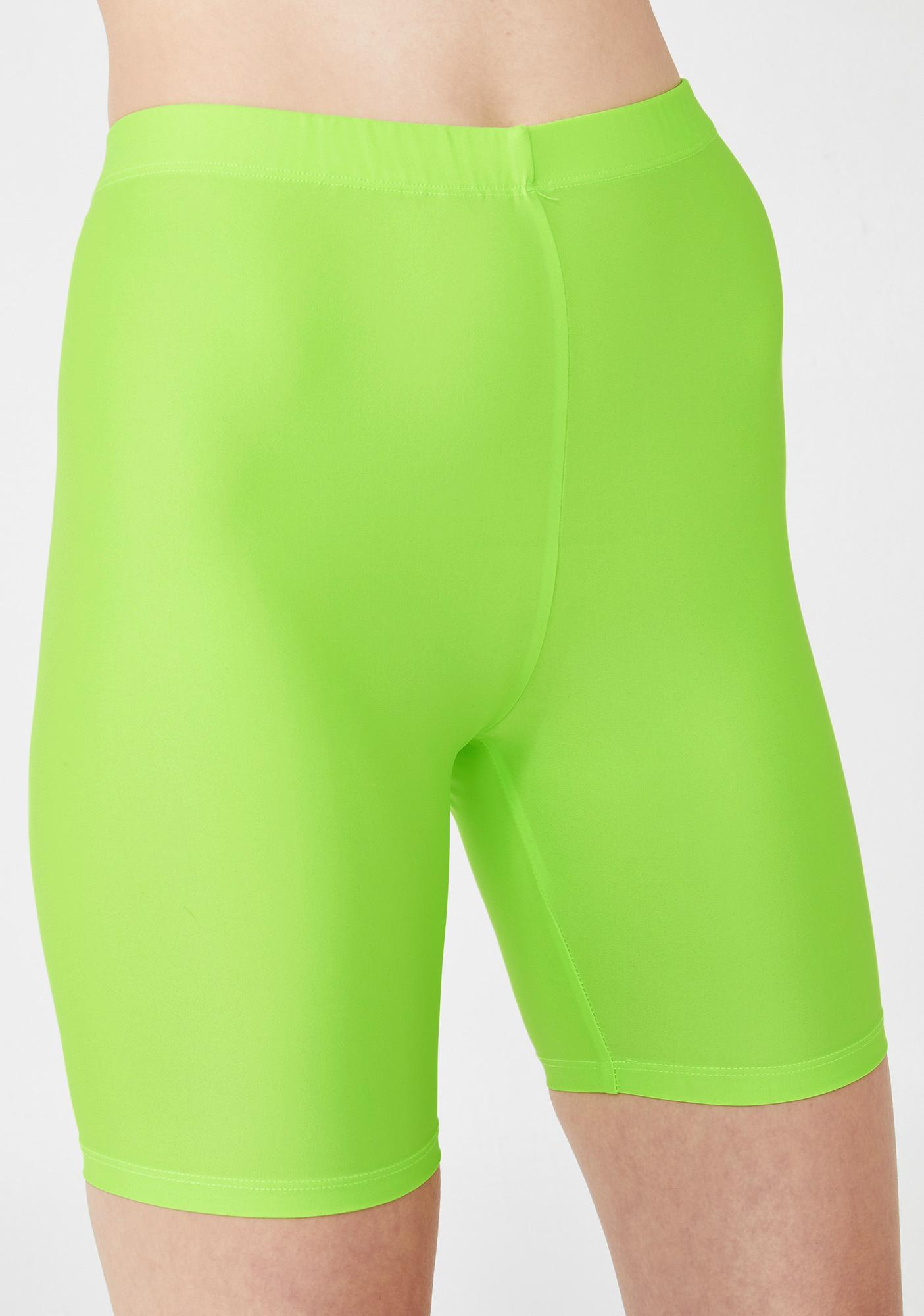 Motel Lime Cycle Shorts