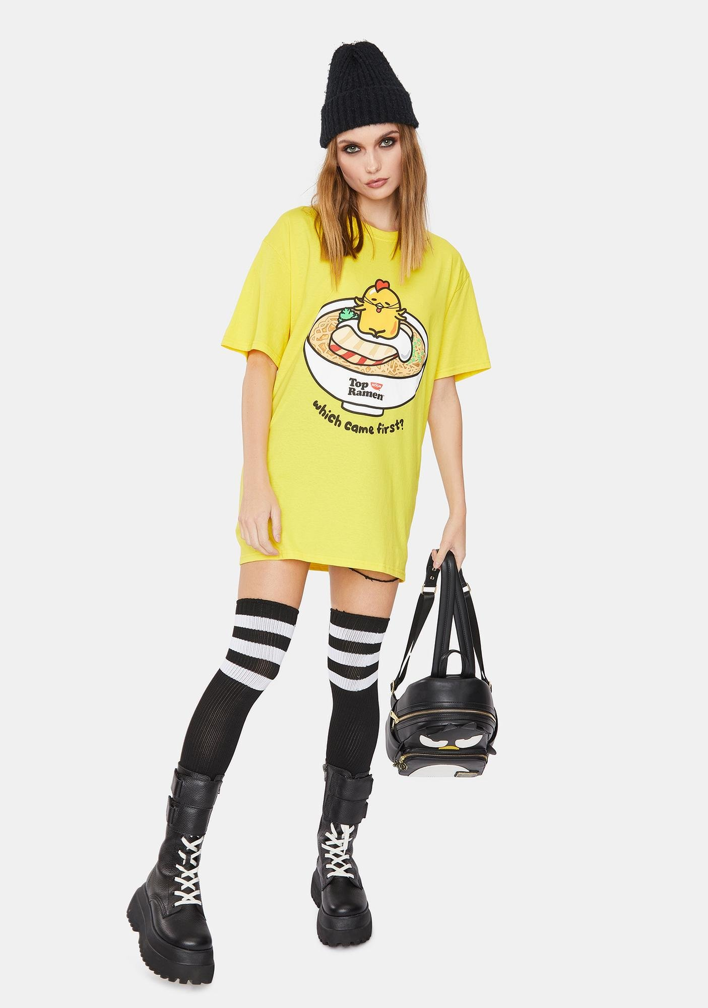 Gudetama x Top Ramen Chicken Or Egg Short Sleeve Tee