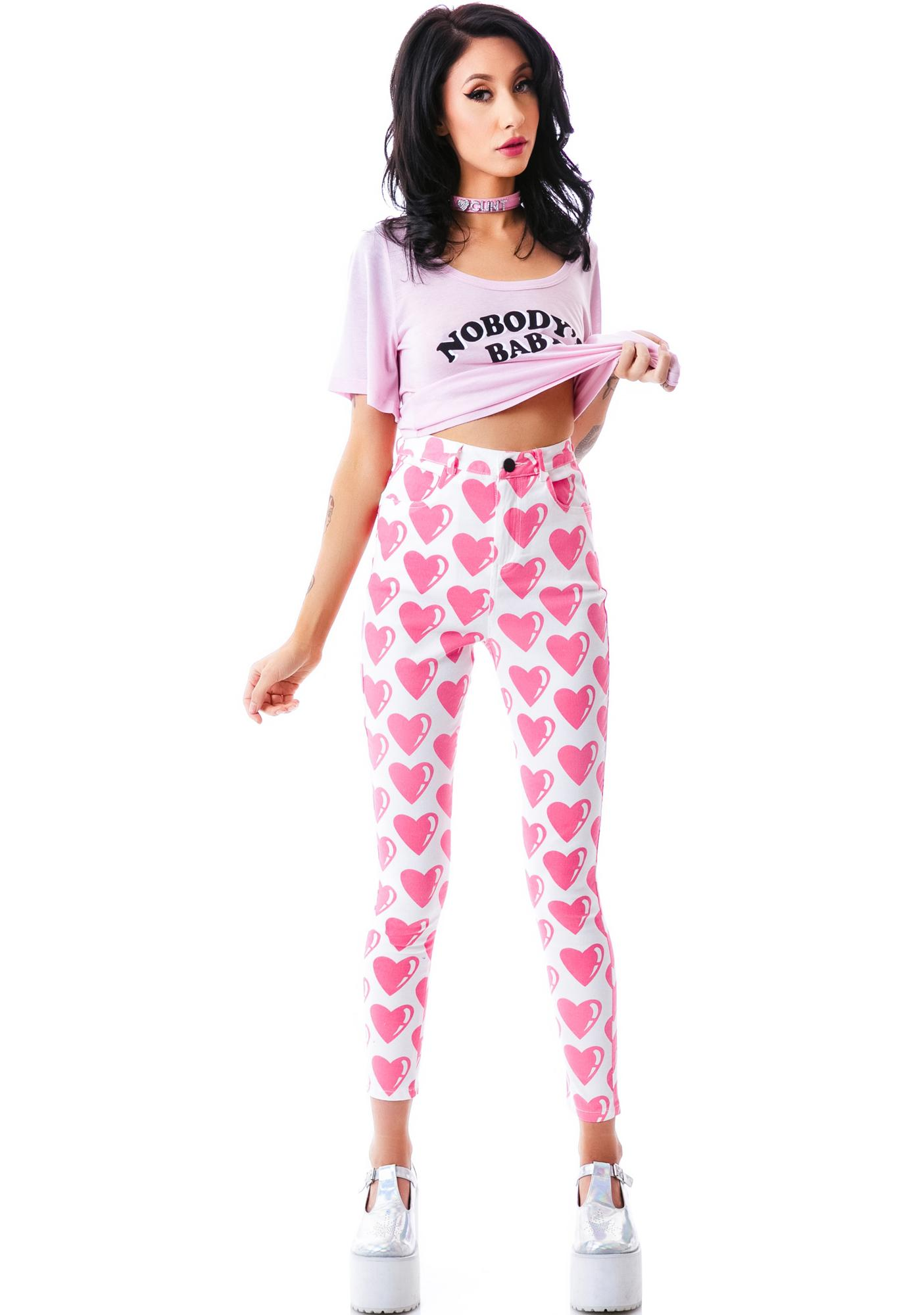 Lazy Oaf From The Heart Pants