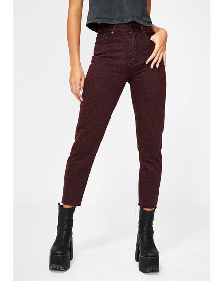 Lady Leopard Mum Jeans