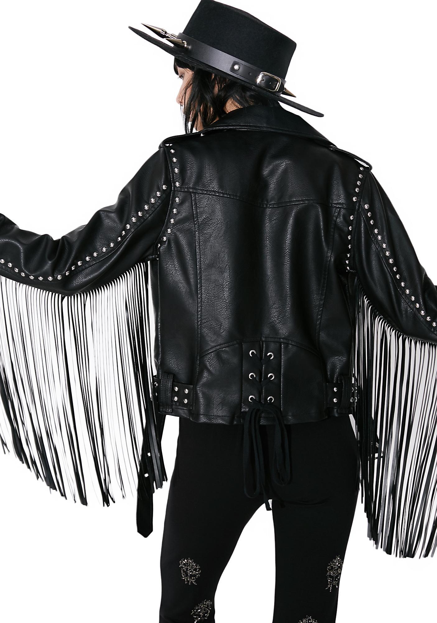 Killstar Harley Sinn Fringe Biker Jacket