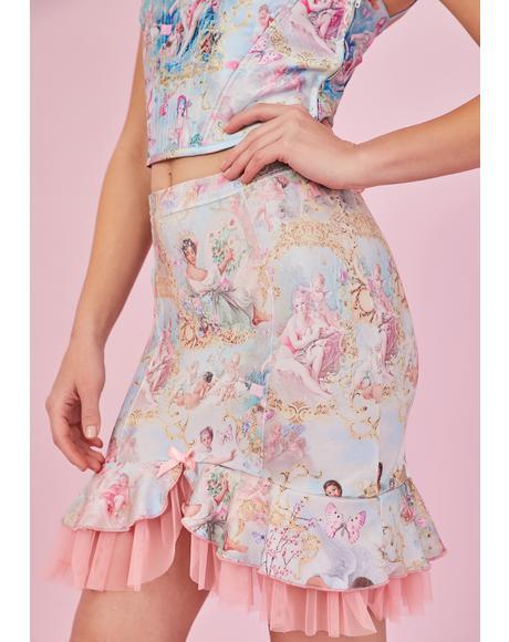 Divine Lush Opulence Satin Skirt