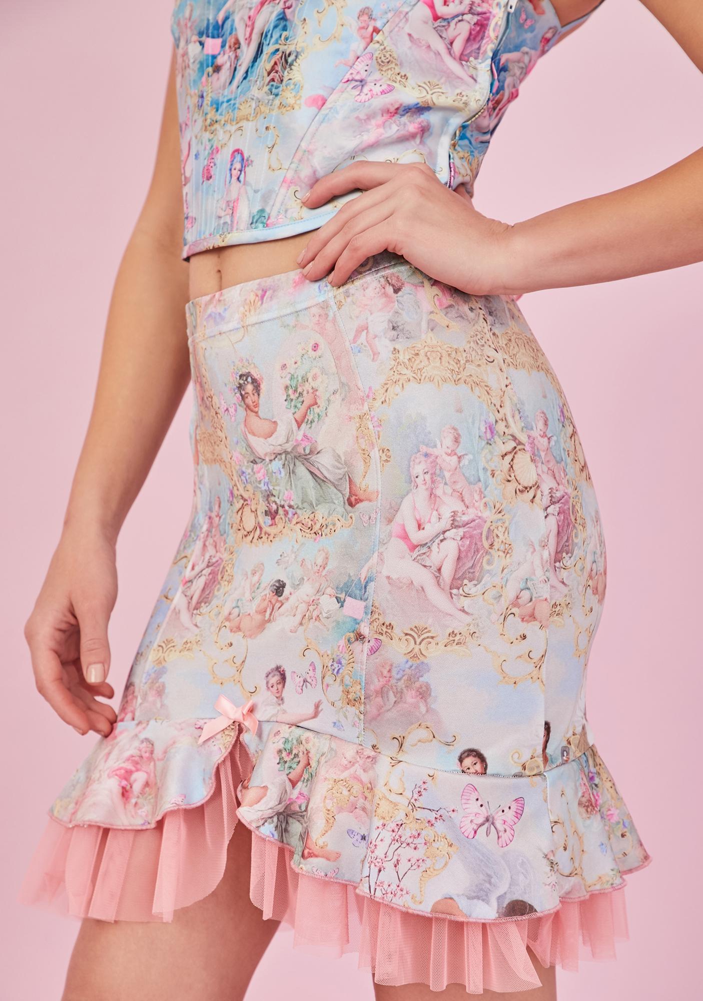 Sugar Thrillz Divine Lush Opulence Satin Skirt