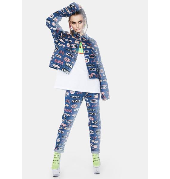x-Girl X Hysteric Glamour Icons Denim Jacket