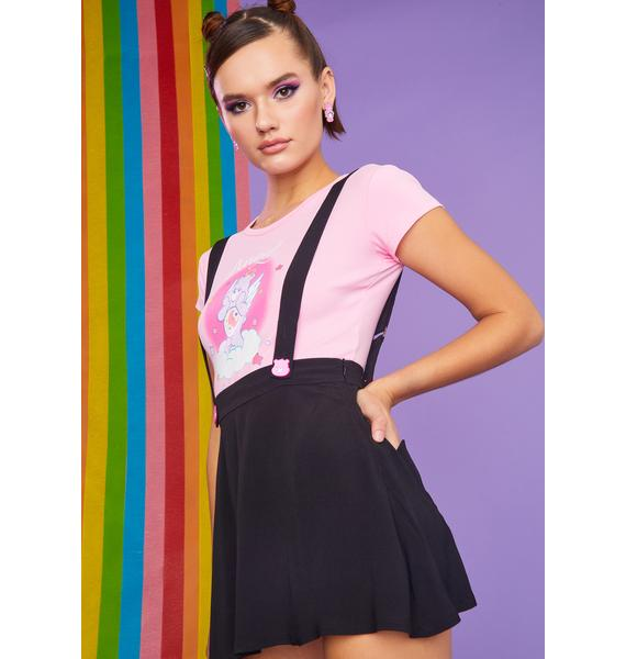 Dolls Kill x Care Bears Be My BFF Suspender Skirt