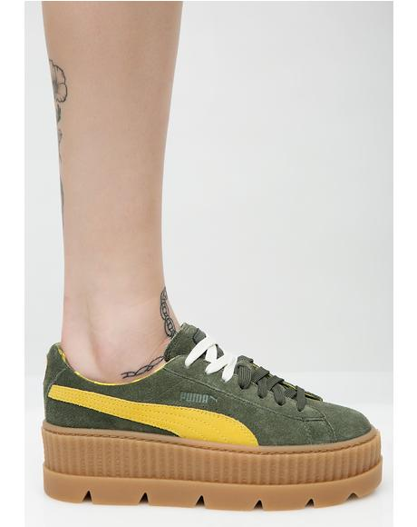 Pine FENTY PUMA By Rihanna Cleated Suede Creepers